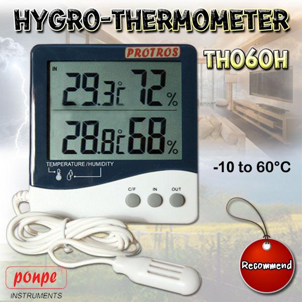 TH060H Hygro-Thermometer เครื่องวัดอุณหภูมิ และความชื้น 2 จุด