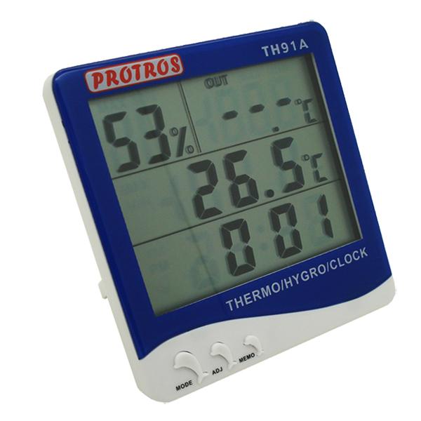 Thermo-Hygrometer เครื่องวัดอุณหภูมิ 2 จุด และความชื้น TH91A