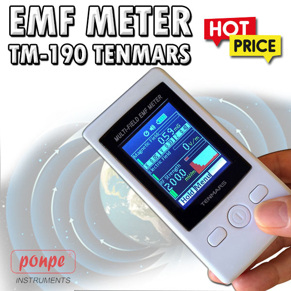 TM-190 TENMARS เครื่องวัดสนามแม่เหล็ก EMF Meter