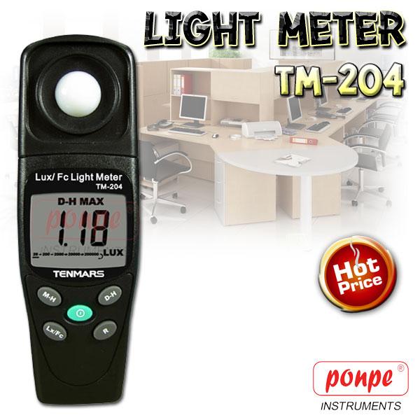 TM-204 TENMARS เครื่องวัดแสง Light Meter
