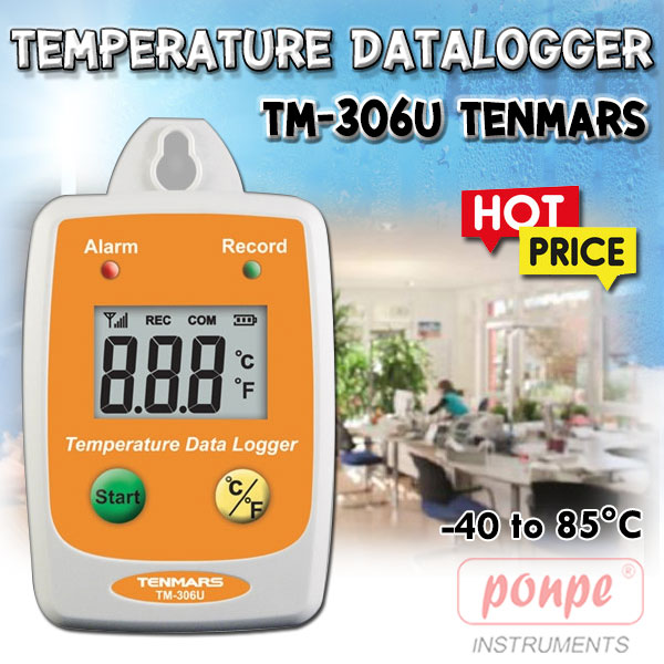 TM-306U TENMARS เครื่องวัดและบันทึกอุณหภูมิ