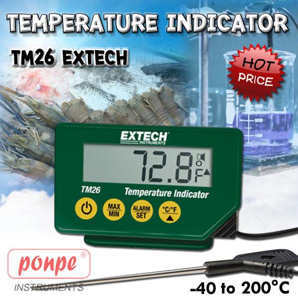 TM26 EXTECH เครื่องวัดอุณหภูมิ Waterproof Temperature Indicator