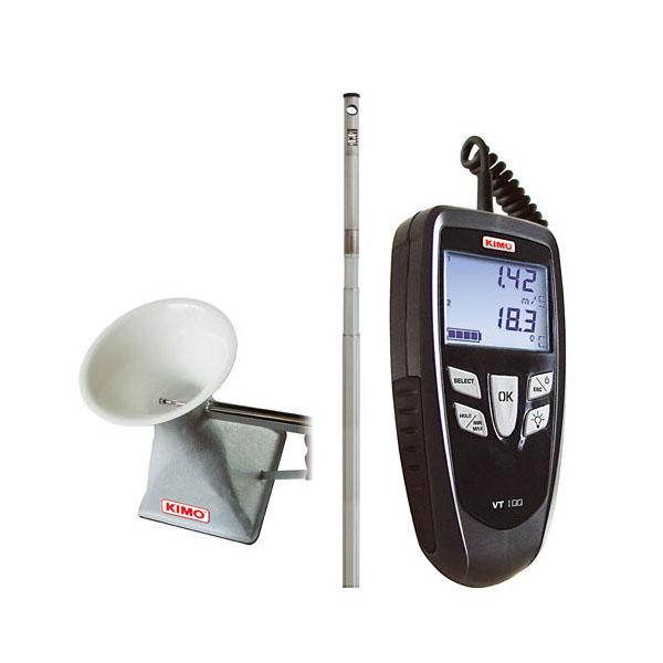 Anemometer, volumetric meter m3 / h, CFM model VT100S - discontinued