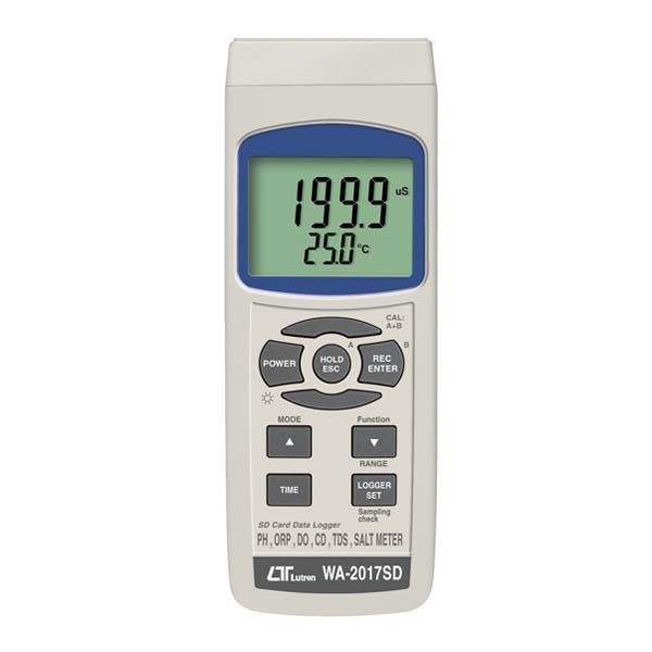WA-2017SD LUTRON pH,ORP,DO,TDS,SALT METER