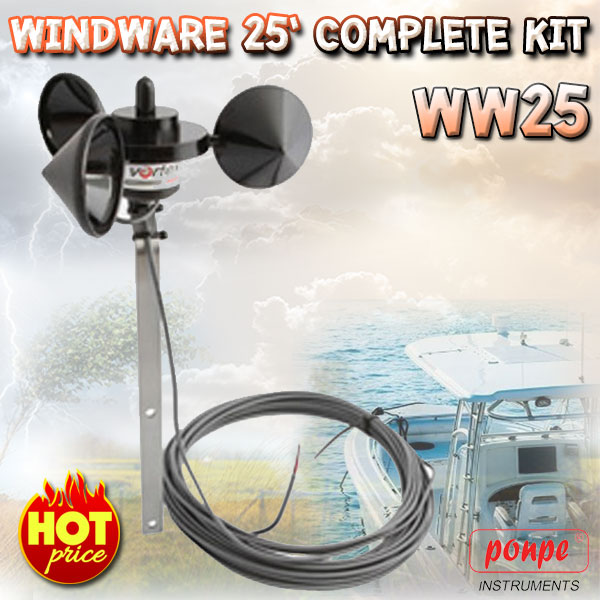 WW25 / Inspeed เครื่องวัดความเร็วลม Windware 25` Complete Kit