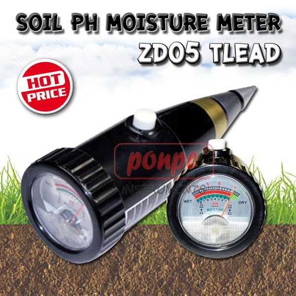 ZD05 / TLEAD เครื่องวัดความชื้น กรดด่างในดิน Soil pH Moisture Meter
