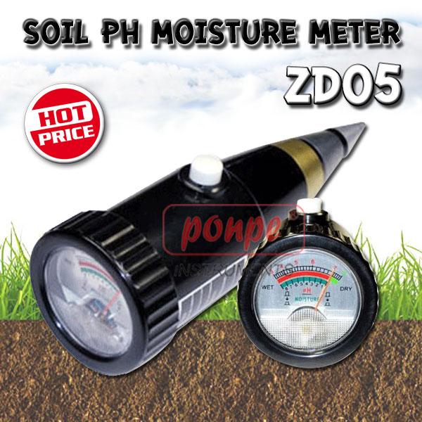 ZD05 / JEDTO เครื่องวัดความชื้น กรดด่างในดิน Soil pH Moisture Meter