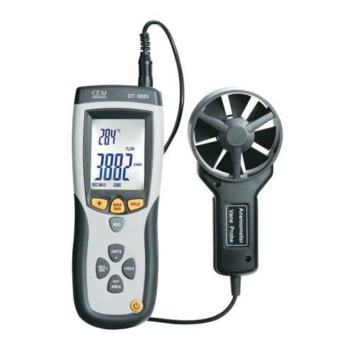DT-8893 / CEM เครื่องวัดความเร็วลม CMM/CFM Thermo-Anemometer