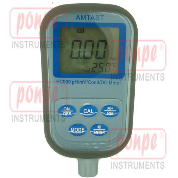 EC900 AMTAST เครื่องวัดความนำไฟฟ้า กรดด่าง Waterproof DO Kit 9-in-1 Meter