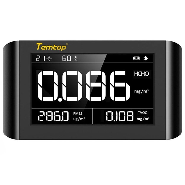 TEMTOP M1000 Air Quality Monitor เครื่องวัดคุณภาพอากาศ PM2.5/HCHO/TVOC