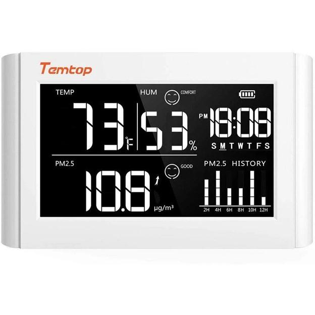 TEMTOP P20 เครื่องวัดคุณภาพอากาศ PM2.5 Temperature & Humidity