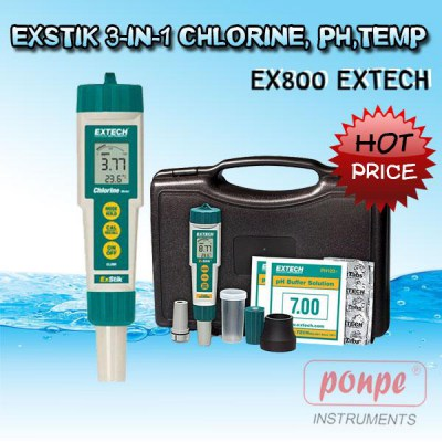 EX800 EXTECH CHLORINE, PH,TEMP