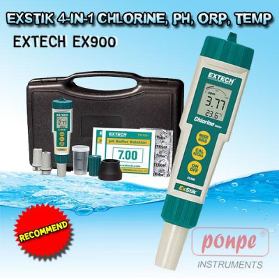 EX900 Extech CHLORINE, PH, ORP, TEMP