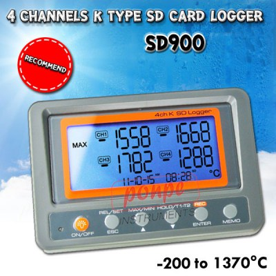 SD900 4 Channel Temperature Meter