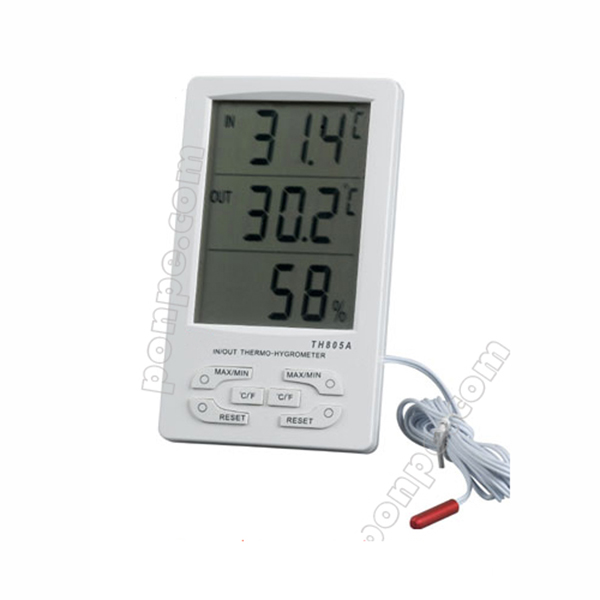 Hygro-Thermometer เครื่องวัดอุณหภูมิ IN/OUT ความชื้น TH-805A