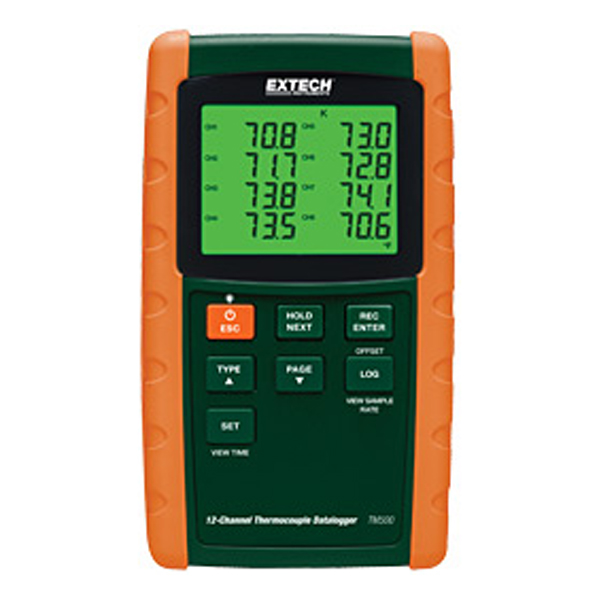 TM500 Extech 12-Channel Datalogging Thermometer