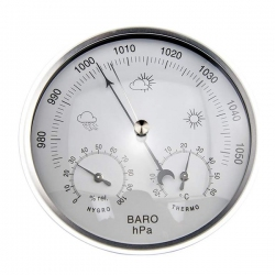 AW008 / JEDTO Dial Type Barometer with Thermometer Hygrometer