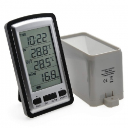 AW012 / JEDTO เครื่องวัดปริมาณน้ำฝน Wireless Rain Gauge with RCC, in/outdoor temperature