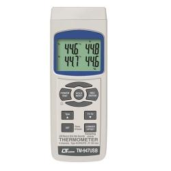 TM-947USB / Lutron เครื่องวัดอุณหภูมิดิจิตอล 4 Channels Thermometer