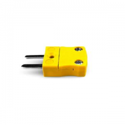 TP-50 / TLEAD Thermocouple Connector Plug Type K / TP-50 / Yellow-Silver